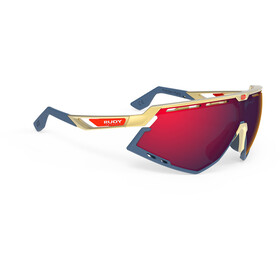 Rudy Project Defender Occhiali, gold/blue navy - rp optics multilaser red